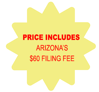 Price Includes Arizona Corporation $60 Filing Fee