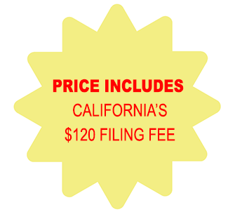 Price Includes California Corporation $120 Filing Fee
