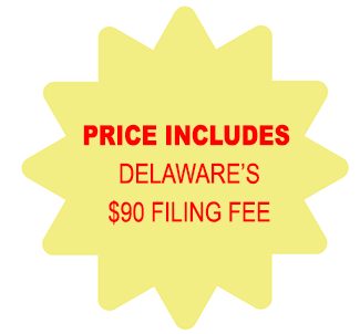 Price Includes Delaware Corporation $90 Filing Fee