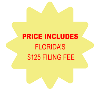 Includes Florida LLC $125 Filing Fee