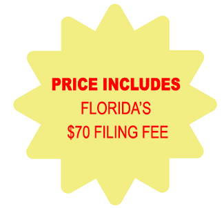 Price Includes Florida Corporation $70 Filing Fee