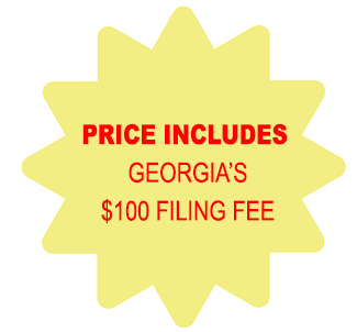 Price Includes Georgia Corporation $100 Filing Fee
