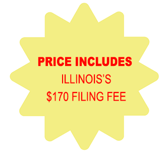 Price Includes Illinois Corporation $170 Filing Fee