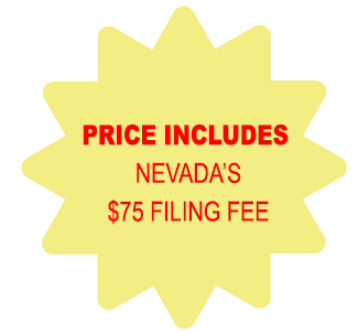 Price Includes Nevada Corporation $75 Filing Fee