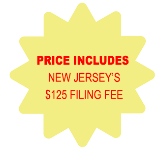 Price Includes New Jersey Corporation $125 Filing Fee