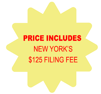Price Includes New York Corporation $125 Filing Fee